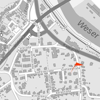 Lageplan Südfelstrasse